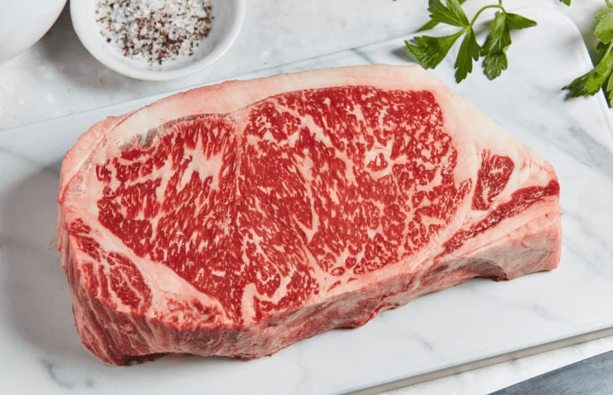 wagyu steak with impressive marbling